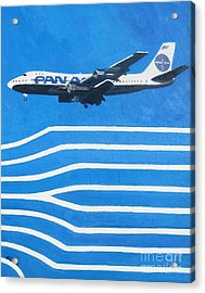 Pan Am Clipper Acrylic Print by Lesley Giles