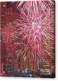 Panama Fireworks Acrylic Print by Bob Hislop
