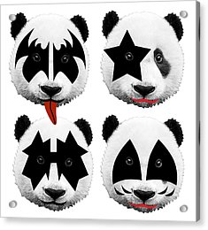 Panda Kiss  Acrylic Print by Mark Ashkenazi