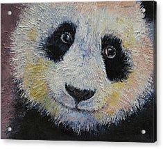 Panda Smile Acrylic Print by Michael Creese