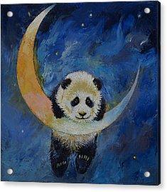 Panda Stars Acrylic Print by Michael Creese