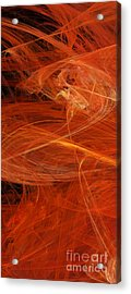 Panel 1 Of 5 Dancing Flames 2 H Pentaptych - Abstract - Fractal Art Acrylic Print by Andee Design
