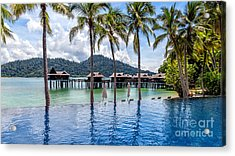 Pangkor Laut Bay Acrylic Print by Adrian Evans