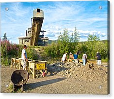 Panning For Gold In Chicken-ak- Acrylic Print by Ruth Hager