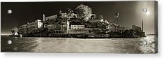 Panorama Alcatraz Up Close Acrylic Print by Scott Campbell