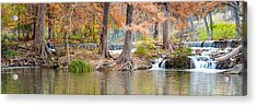 Panorama Of Guadalupe River In Hunt Texas Hill Country Acrylic Print by Silvio Ligutti