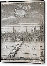 Panorama Of London Acrylic Print by British Library