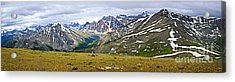Panorama Of Rocky Mountains In Jasper National Park Acrylic Print by Elena Elisseeva