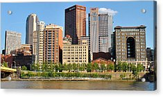 Panorama Over The Allegheny Acrylic Print by Frozen in Time Fine Art Photography
