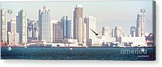 Panoramic Image Of San Diego From The Harbor Acrylic Print by Artist and Photographer Laura Wrede