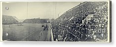 Panoramic Photo Of Harvard  Dartmouth Football Game Acrylic Print by Edward Fielding
