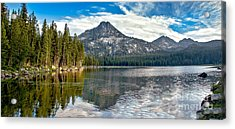 Panoramic View Of Anthony Lake Acrylic Print by Robert Bales