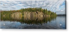 Panoramic View Of The Cliffs In Rock Acrylic Print by Robert Postma