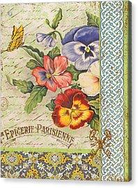 Pansy Garden-b Acrylic Print by Jean Plout