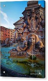 Pantheon Fountain Acrylic Print by Inge Johnsson