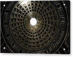 Pantheon Oculus Acrylic Print by Joan Carroll