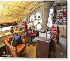 Paolo Soleri's Office II Acrylic Print by Diane Wood