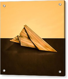 Paper Airplanes Of Wood 2 Acrylic Print by Yo Pedro