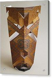 Paper Mask Acrylic Print by Alfred Ng