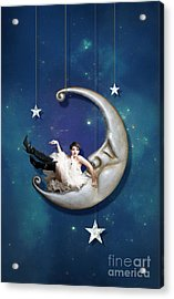 Paper Moon  Long Narrow Format Acrylic Print by Linda Lees