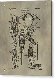 Parachute Toy Patent Acrylic Print by Dan Sproul