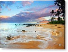Paradise Dawn Acrylic Print by Mike  Dawson
