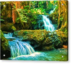 Paradise Found Acrylic Print by Michael Pickett