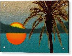 Paradise Sun Acrylic Print by Ben and Raisa Gertsberg