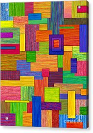Parallelograms Acrylic Print by David K Small