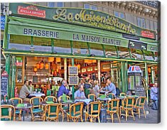 Paris Cafe In Summer Acrylic Print by Matthew Bamberg