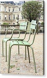 Paris Chairs Acrylic Print by Georgia Fowler