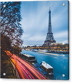Paris Acrylic Print by Cory Dewald