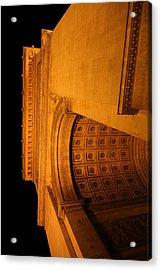 Paris France - Arc De Triomphe - 01132 Acrylic Print by DC Photographer