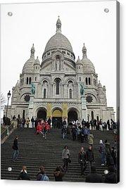 Paris France - Basilica Of The Sacred Heart - Sacre Coeur - 12126 Acrylic Print by DC Photographer