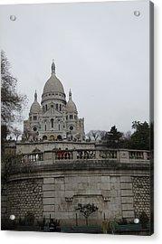Paris France - Basilica Of The Sacred Heart - Sacre Coeur - 12129 Acrylic Print by DC Photographer