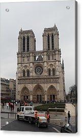 Paris France - Notre Dame De Paris - 011312 Acrylic Print by DC Photographer
