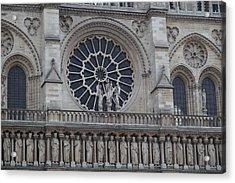 Paris France - Notre Dame De Paris - 01137 Acrylic Print by DC Photographer
