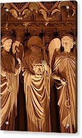 Paris France - Notre Dame De Paris - 01138 Acrylic Print by DC Photographer