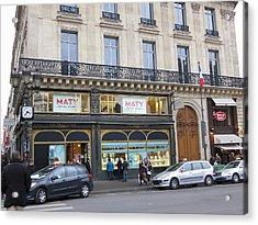 Paris France - Street Scenes - 121249 Acrylic Print by DC Photographer