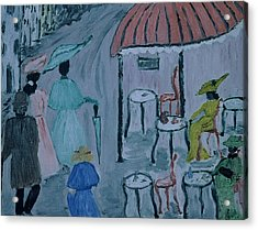 Paris Acrylic Print by Inge Lewis