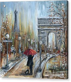 Paris Lovers II Acrylic Print by Marilyn Dunlap