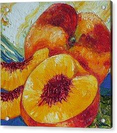 Paris' Peach Acrylic Print by Paris Wyatt Llanso