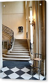 Paris Rodin Museum Entry Staircase And Architecture Acrylic Print by Kathy Fornal