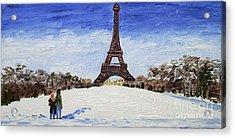 Paris Romance Acrylic Print by Kevin Croitz