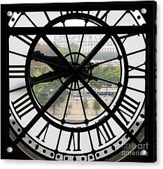 Paris Time Acrylic Print by Ann Horn