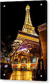 Paris Under The Tower Acrylic Print by Az Jackson