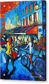Parisian Cafe Acrylic Print by Mona Edulesco