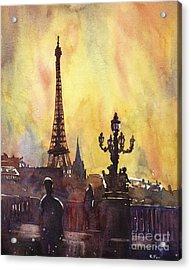 Parisian Sunset Acrylic Print by Ryan Fox