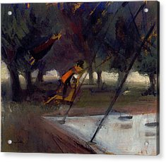 Park Swings Acrylic Print by Ted Reynolds
