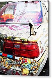 Parked On A New York Street Acrylic Print by Sarah Loft